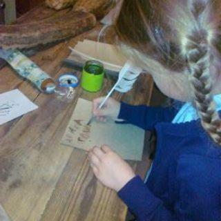Пробуем писать гусиным пером